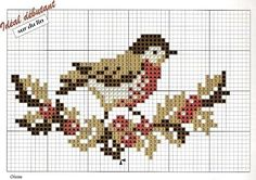 #crossstitch chart #bird #fall