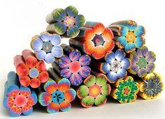 Polymer Clay Flower Canes Tutorials
