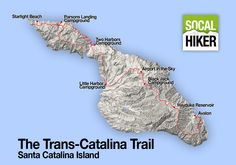 The Trans-Catalina Trail is a 32 mile trail that runs from end-to-end of Catalina Island. This is the essential guide to hiking this epic trail. Hiking Places, Camping Places, Camping Spots, Backpacking Trails, Hiking Trails, Santa Catalina Island, Two Harbors, Best Places To Camp, Hiking With Kids