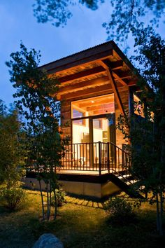 WheelHaus Wedge Cabin is a portable tiny cabin that was designed and built by WheelHaus. The Wedge i ...