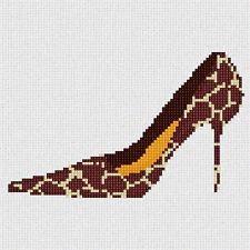 Giraffe Shoe Needlepoint Kit or Canvas NEW Painted Needle Point Canvases