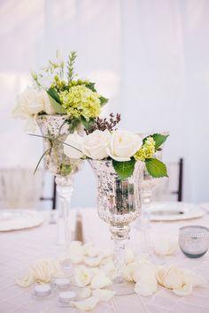 Mercury Glass Vases   Amazing Blooms Studios   Full Spectrum Photography   TheKnot.com