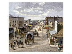 Inch Print - High quality print (other products available) - Main street in Wichita, Kansas, woodcut of a illustration - Image supplied by North Wind Picture Archives - Photo Print made in the USA Kansas, Fine Art Prints, Framed Prints, Canvas Prints, Wind Pictures, Covered Wagon, Horse Farms, Main Street, Poster Size Prints