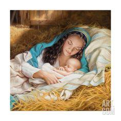 Mary and Baby Giclee Print by Mark Missman at Art.com