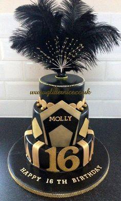 Great Gatsby Style Cake - Cake by Alli Dockree