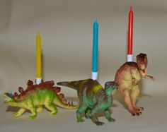 Dinosaur Birthday Party Candles by HappyNotesInteriors on Etsy, £9.25