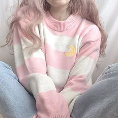 Pink theme💓 Outfit💓 discovered by M.🐉 on We Heart It Cute Casual Outfits, Pink Outfits, Pretty Outfits, Vintage Outfits, Harajuku Fashion, Kawaii Fashion, Cute Fashion, Lolita Fashion, Aesthetic Sweaters