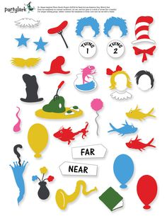 Dr. Seuss 1 Fish 2 Fish Cutouts | Activities, Fish art and Free ...