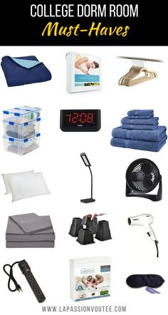 College Dorm Room Must-Haves   Unsure about what to pack and buy for your dorm room? Check out this post for everything you need for your college dorm room in addition to a clothing packing list, and stationery supplies. back to school list     back to school supplies list    college checklist    college supply list