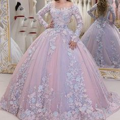 lace prom dresses 2020 long sleeve ball gown floor length appliques evening dresses puffy party dresses - Source by - Puffy Prom Dresses, Pretty Quinceanera Dresses, Prom Dresses Long With Sleeves, Quince Dresses, Lace Evening Dresses, Ball Gown Dresses, 15 Dresses, Elegant Dresses, Bridal Dresses