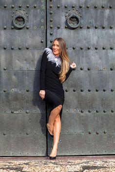 vestido clásico negro by araceli vera y la Paca costura #kissmylook