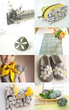 Flannel Daisies & Cotton Pebbles
