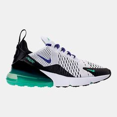promo code 44864 e989a Right view of Women s Nike Air Max 270 Casual Shoes in White Court  Purple Menta