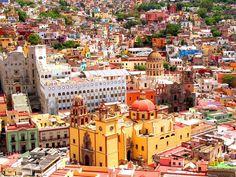 City of Mummies, Guanajuato, Mexico, City colored buildings2