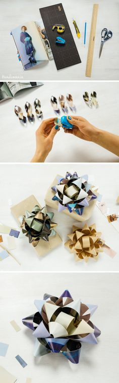 Magazine Page Gift Bow