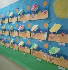 "Kunst Grundschule - End of year ""summer"" project. Textured sand, value water, warm/cool flip-. - Kunst Grundschule - End of year ""summer"" project. Textured sand, value water, warm/cool flip-. Sea Crafts, Summer Crafts For Kids, Daycare Crafts, Fun Crafts For Kids, Summer Art, Preschool Crafts, Art For Kids, Arts And Crafts, Paper Crafts"