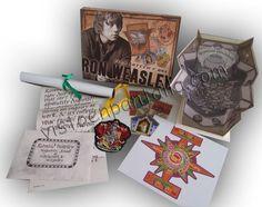 Caja de recuerdos y efectos personales Harry Potter. Ron Weasley