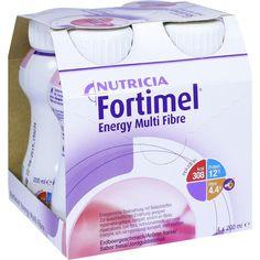FORTIMEL Energy Multi Fibre Erdbeergeschmack:   Packungsinhalt: 4X200 ml Flüssigkeit PZN: 01125175 Hersteller: Nutricia GmbH Preis: 10,43…
