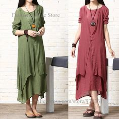 Find More Dresses Information about Vintage Cotton Linen Long Dress Blouse Long Dresses Women Tops Summer Dress 2015 vestidos largos,High Quality dress games,China dress black and pink Suppliers, Cheap dress sophisticated from Fashion Ethnic Store on Aliexpress.com