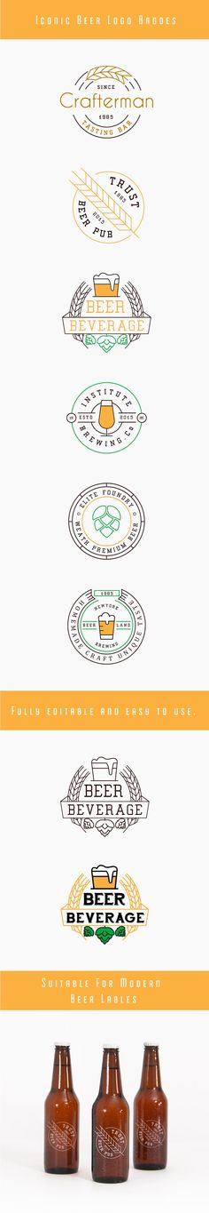 Fspallato: I like the simplicity of these badges. Beer Logo Badges on Behance                                                                                                                                                                                 More