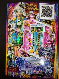 "Trading card of Japanese Animation ""AIKATSU STARS 2nd"" Tricky pirates R 310"