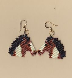 Native American Seed Bead Patterns | cute beaded earrings are made using size 11 Delica glass seed beads ...