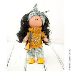 Купить Стиляжная Горчичка - желтый, кукла тыквоголовка, кукла ручной работы, кукла в подарок