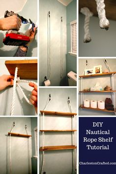 DIY Nautical Rope Sh