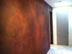 Interior Wall using Sydney Harbour Paints Liquid Iron/Instant Rust