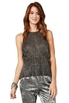 85a93e3b80398 NEW Sugar Lips Sugarlips Sheer Black   Silver Shimmer Tank Top XS S M L in  Clothing