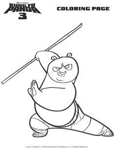 Kung Fu Panda Tegninger Til Farvelaegning Printbare For