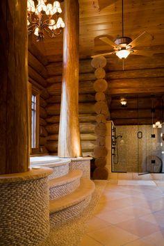 hirsh log homes Log Cabin Homes, Log Cabins, Log Home Builders, Timber Logs, Log Home Living, Cabin In The Woods, Cottage Exterior, Lodge Style, Rustic Elegance