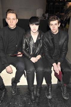 The XX's Oliver Sim, Romy Madley-Croft and Jamie Smith in Acne.
