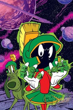 Green Lantern dc comics Looney tunes variant cover marvin the martian warner brothers Cartoon Cartoon, Cartoon Kunst, Comic Kunst, Cartoon Characters, Les Looney Tunes, Looney Tunes Cartoons, Generator Rex, Daffy Duck, Dc Comics