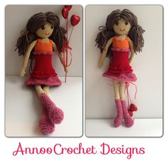 Emma Valentine Doll Pattern by AnnooCrochet on Etsy, $5.99
