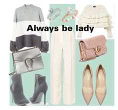 """""""Be stlye"""" by sabinasaby ❤ liked on Polyvore featuring The Row, MANGO, Venus, Gucci, Saks Fifth Avenue and Annello"""
