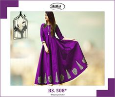 Celebrate this Republic Day by updating your wardrobe. Buy from Muta fashion at affordable prices. Republic Day, Silk Gown, Secondary Color, Shop Now, Sari, Gowns, Popular, Website, Purple