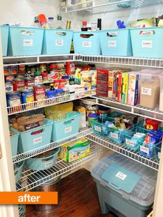 Before & After: Kimberlys Overflow to Organized Pantry
