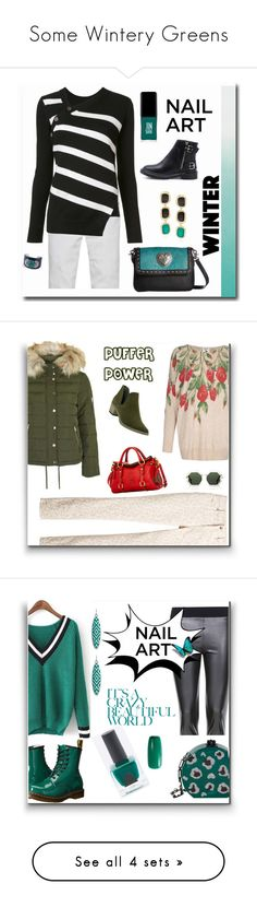 """""""Some Wintery Greens"""" by bonnie-wright-1 ❤ liked on Polyvore featuring beauty, Tommy Hilfiger, Proenza Schouler, JINsoon, Kenneth Jay Lane, M&F Western, Roberto Coin, Topshop, Yumi and Chico's"""