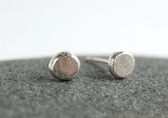 Sterling Silver Stud Earrings  Organic by MiscellaneaEtcetera, $15.00