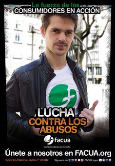 Gonzalo Ramos, socio de FACUA nº 49.817, llama a los consumidores a la lucha contra los abusos
