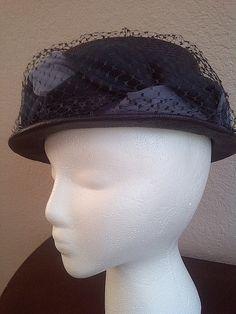 Vintage VELDA ORIGINAL HAT Straw and Netted by maggiecastillo, $11.00