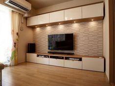 No photo description available. Living Room Wall Units, Living Room Tv Unit Designs, Lcd Wall Design, Tv Ikea, Tv Storage Unit, Modern Tv Wall Units, Tv Cabinet Design, Wardrobe Design Bedroom, Royal Furniture