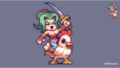 No chocobo? No problem! You could even use an Audi nowadays! @Pixel_Dailies…