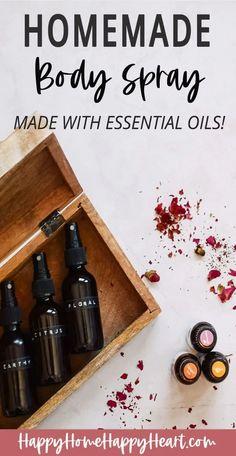 Diy Perfume Recipes, Homemade Perfume, Essential Oil Spray, Essential Oil Perfume, Bath Essential Oils, Homemade Essential Oils, Making Essential Oils, Doterra, Homemade Body Spray