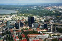 Amazing view to skyscrapers of Tallinn Famous Poets, Slovenia, Seattle Skyline, San Francisco Skyline, Travel Destinations, Castle, France, Country, City