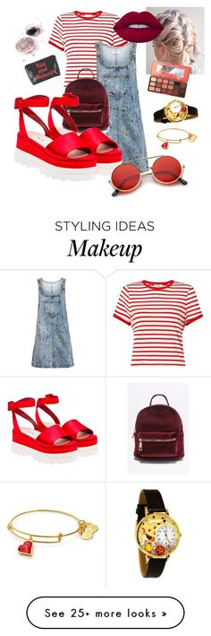 """we wanna summer"" by sophirabbit on Polyvore featuring Miss Selfridge, Topshop, Miu Miu, ZeroUV, Whimsical Watches, Lime Crime and Too Faced Cosmetics"