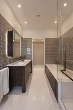 Grey metro tiles will never look tired. The best thing about them is they can be used to create either a modern or more traditional look.