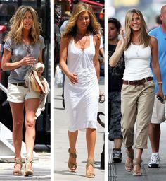 Simple but pretty - Jeniffer Aniston's Street look