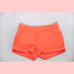 """JCREW Chino Shorts: NWOT 4"""" shorts orange color! Not extremely firm on prices so make an offer!! J. Crew Shorts"""